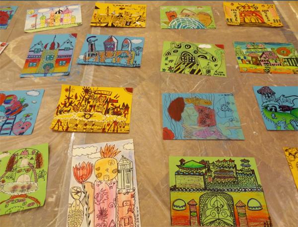 我心中的家园儿童画我心中的小学儿童画